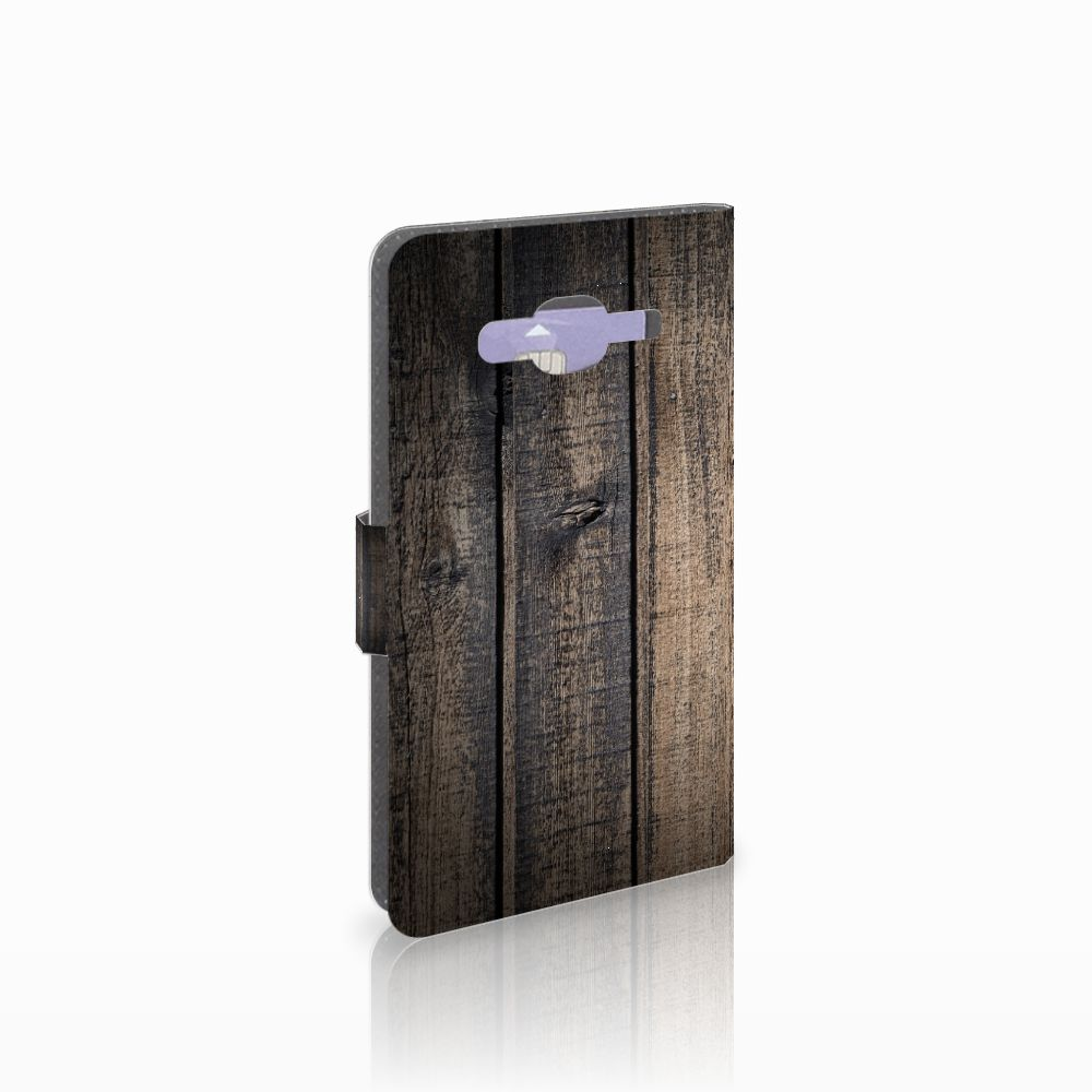 Samsung Galaxy J5 (2015) Boekhoesje Design Steigerhout