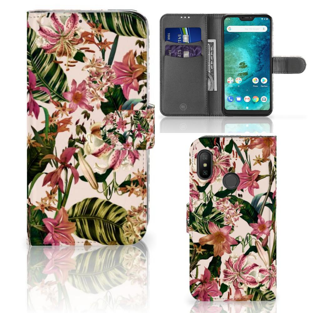 Xiaomi Mi A2 Lite Hoesje Flowers