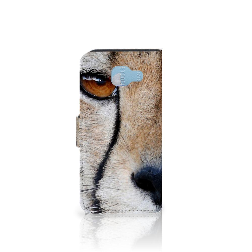 Samsung Galaxy A5 2016 Telefoonhoesje met Pasjes Cheetah