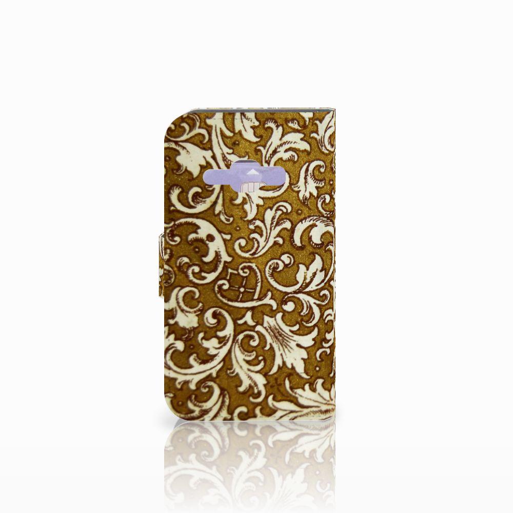 Wallet Case Samsung Galaxy J1 2016 Barok Goud