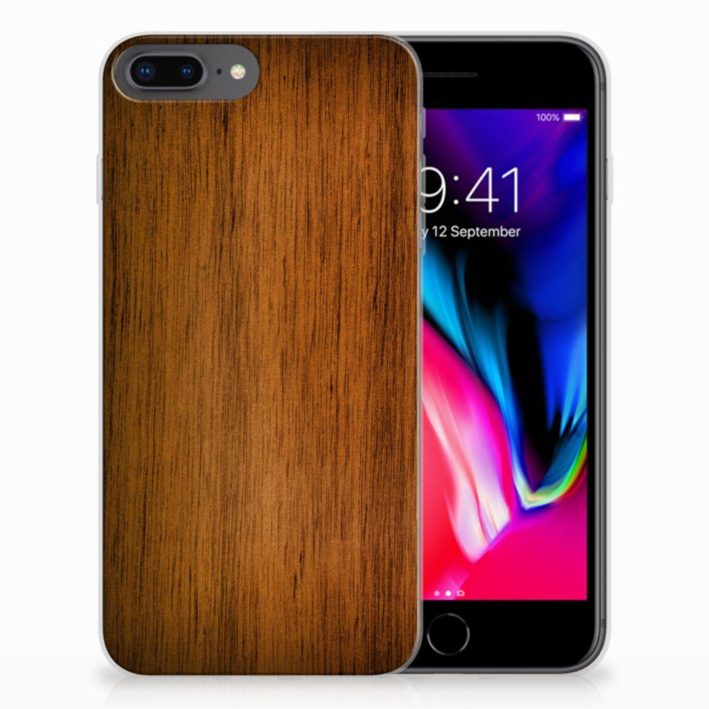 Apple iPhone 7 Plus | 8 Plus Bumper Hoesje Donker Hout