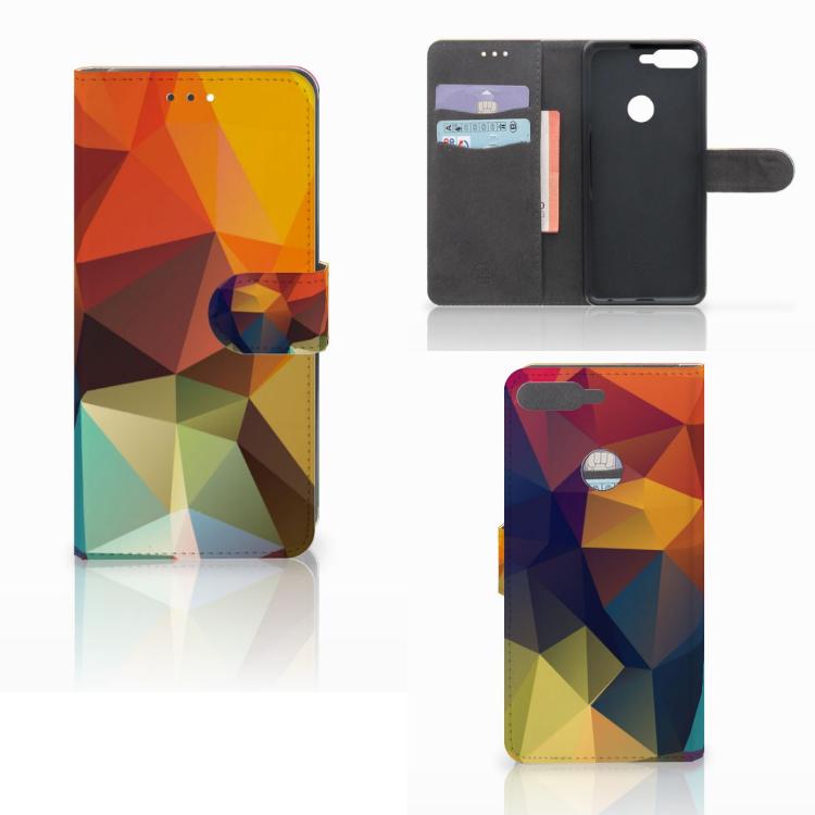 Huawei Y7 2018 Bookcase Polygon Color