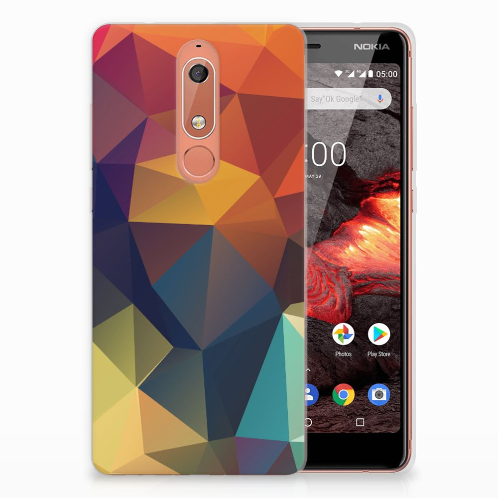 Nokia 5.1 (2018) TPU Hoesje Polygon Color