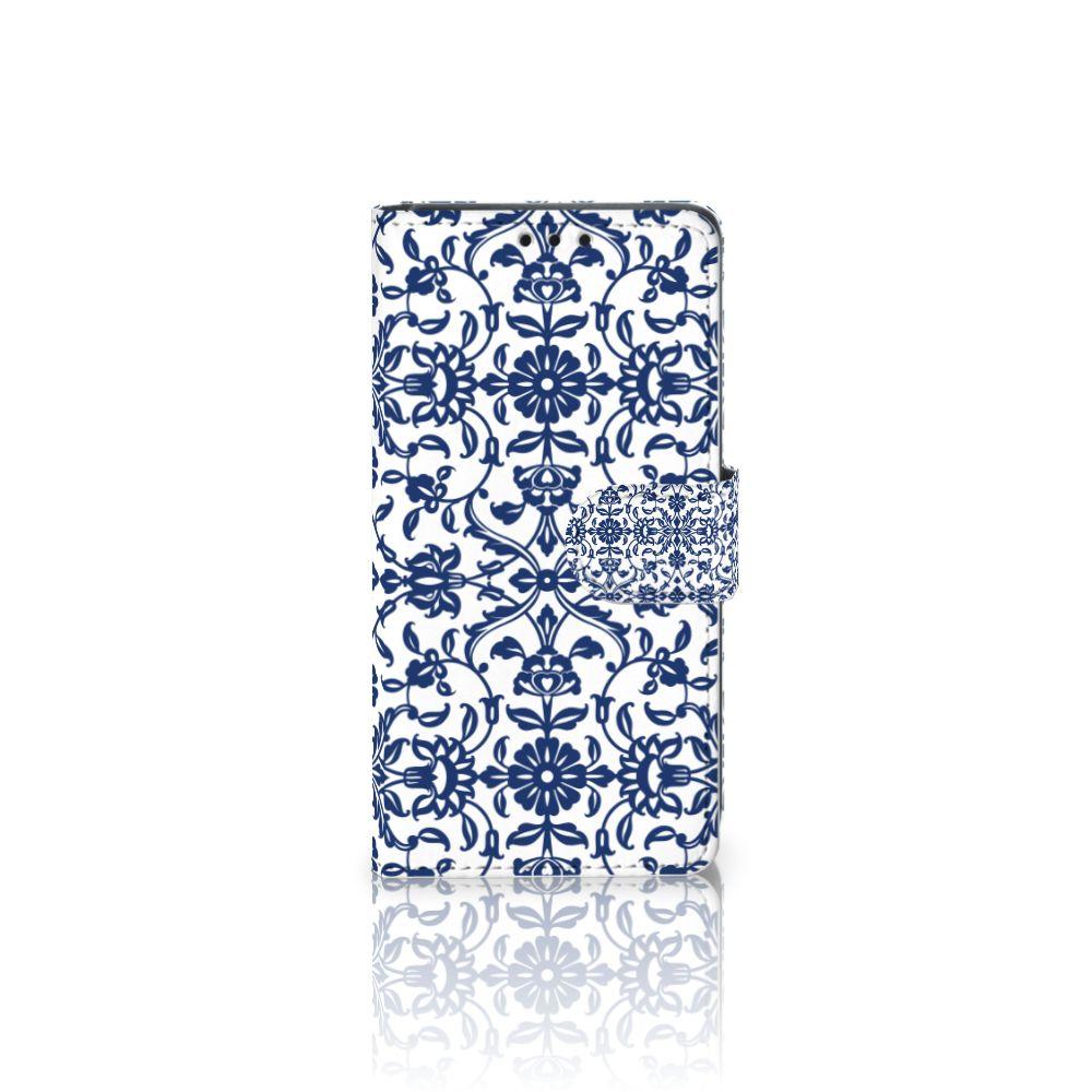 Sony Xperia Z5 | Z5 Dual Uniek Boekhoesje Flower Blue