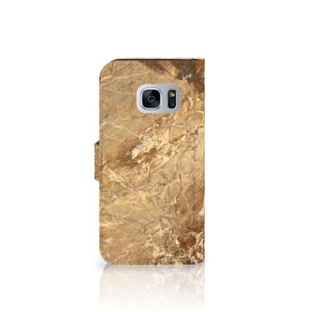 Samsung Galaxy S7 Bookcase Marmer Creme