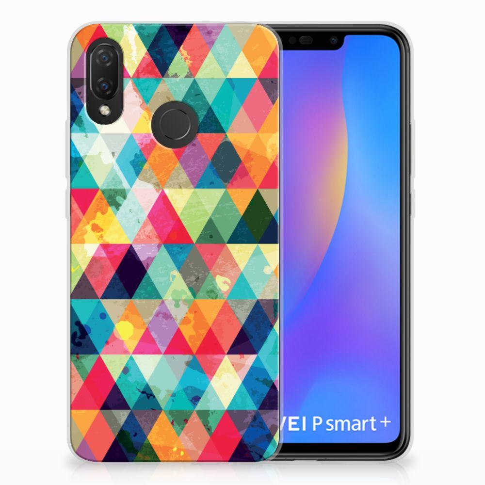 Huawei P Smart Plus Uniek TPU Hoesje Geruit