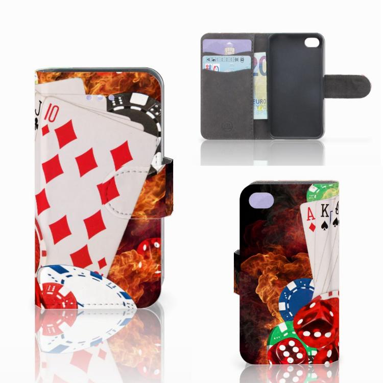 Apple iPhone 4   4S Wallet Case met Pasjes Casino
