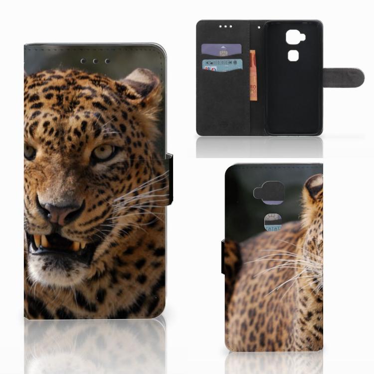 Huawei G8 Telefoonhoesje met Pasjes Luipaard