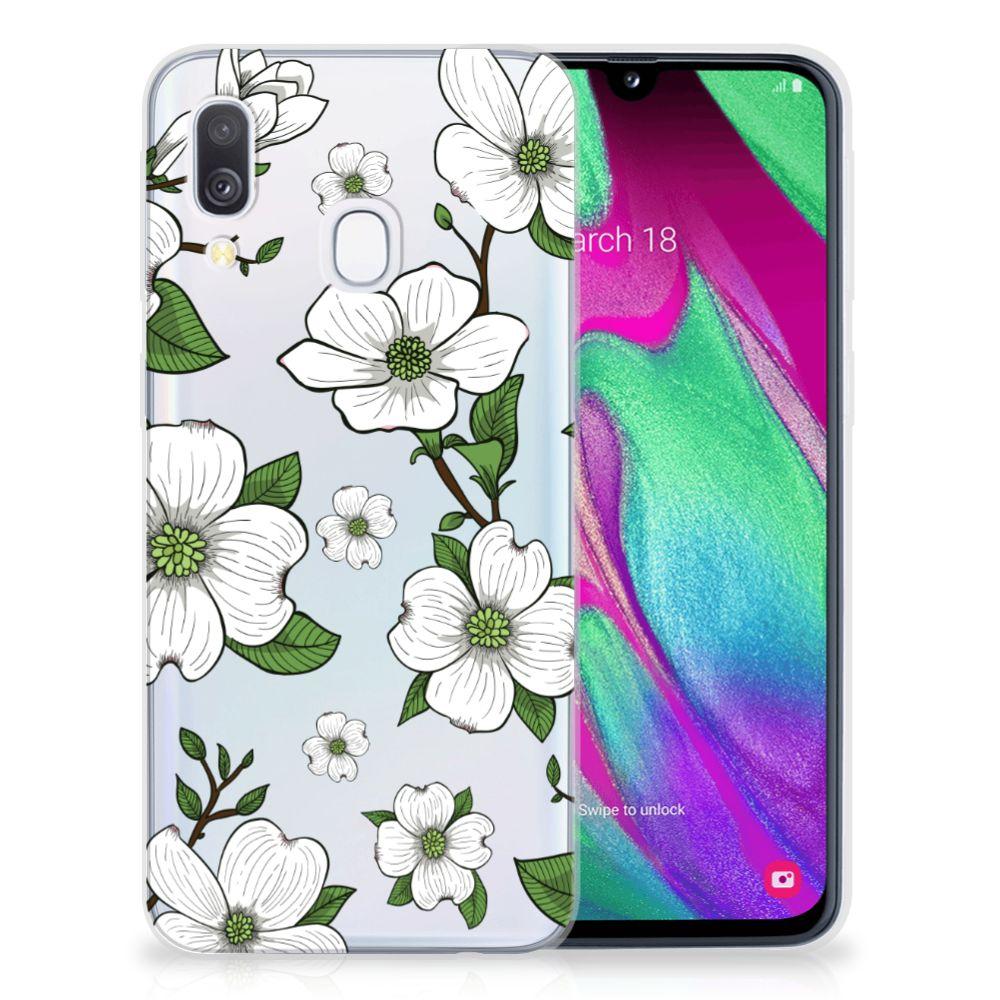 Samsung Galaxy A40 TPU Case Dogwood Flowers