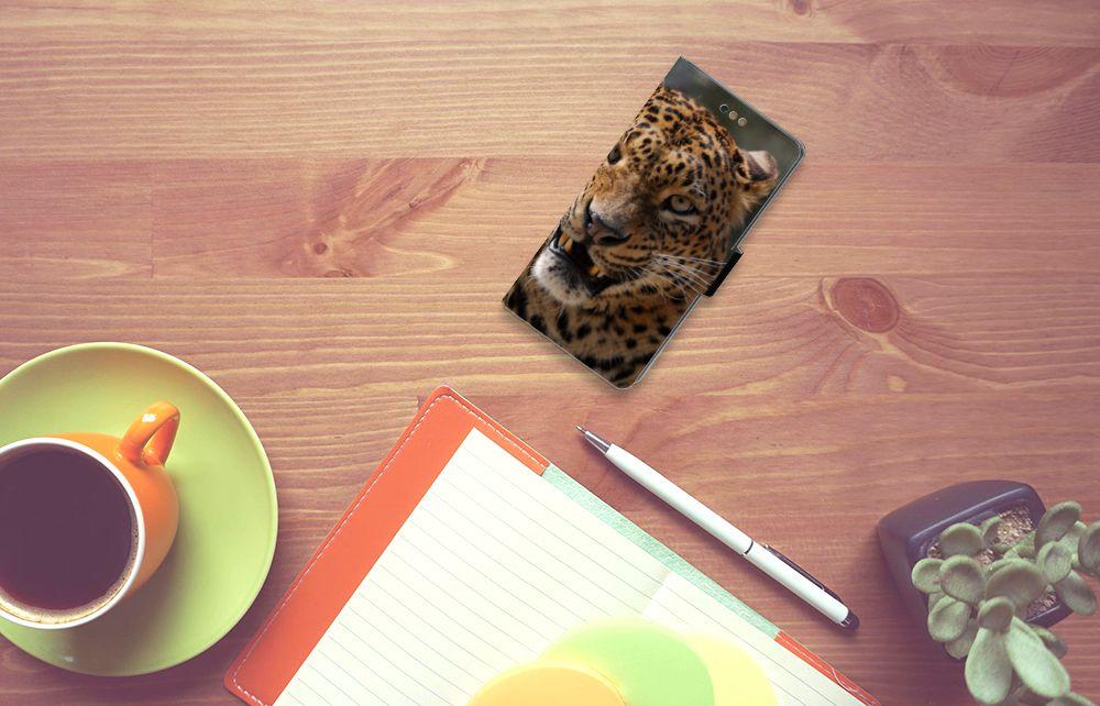 Sony Xperia XA2 Uniek Boekhoesje Luipaard