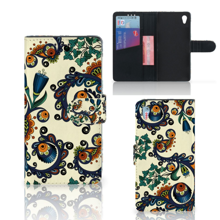 Wallet Case Sony Xperia Z3 Barok Flower