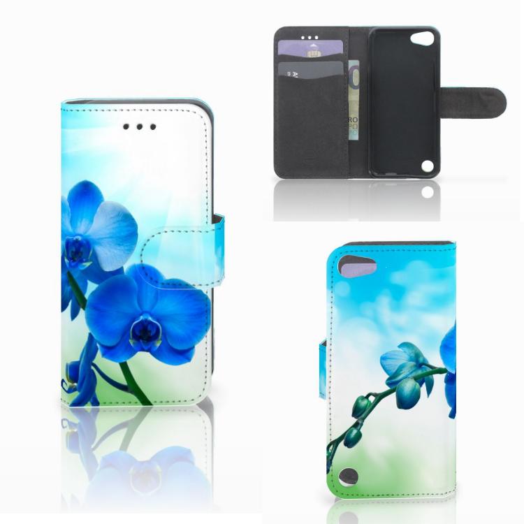 Apple iPod Touch 5 | 6 | iPod (2019) Hoesje Orchidee Blauw
