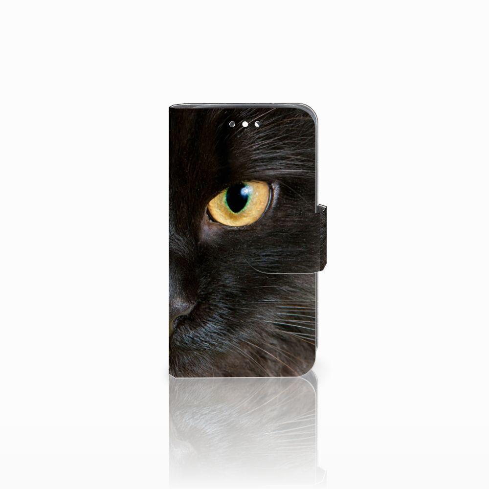 Huawei Y360 Uniek Boekhoesje Zwarte Kat