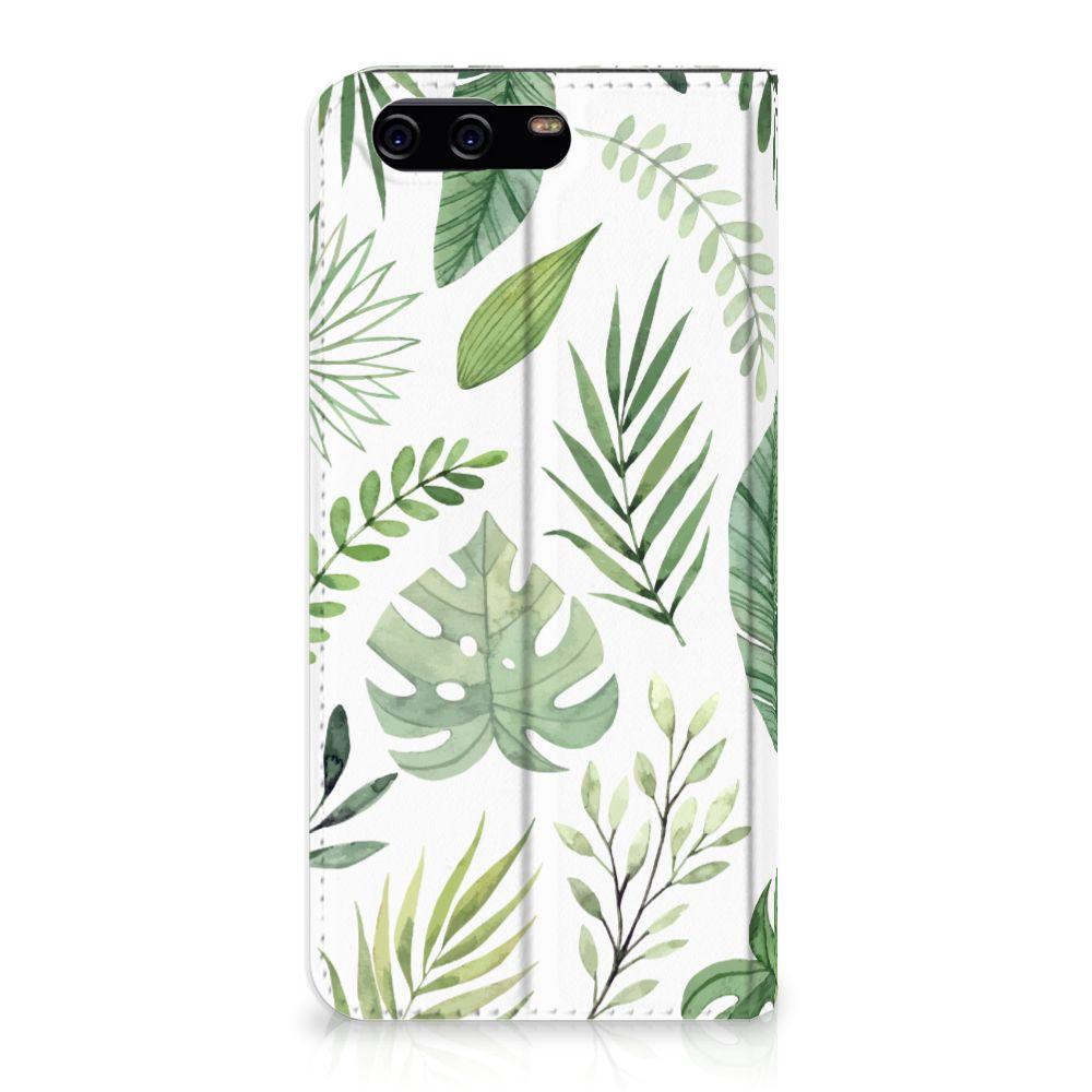Huawei P10 Uniek Standcase Hoesje Leaves