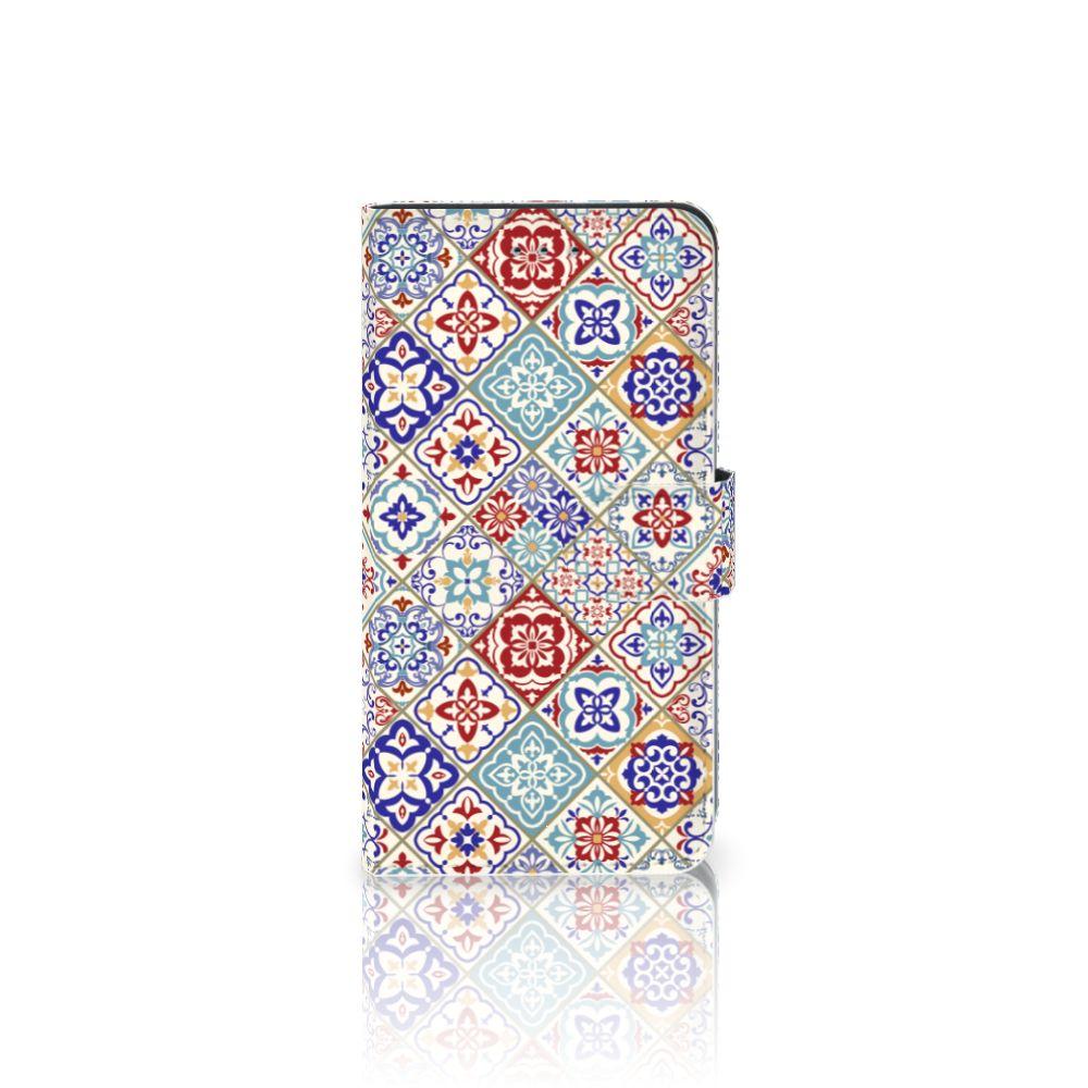 Samsung Galaxy J4 2018 Uniek Boekhoesje Tiles Color