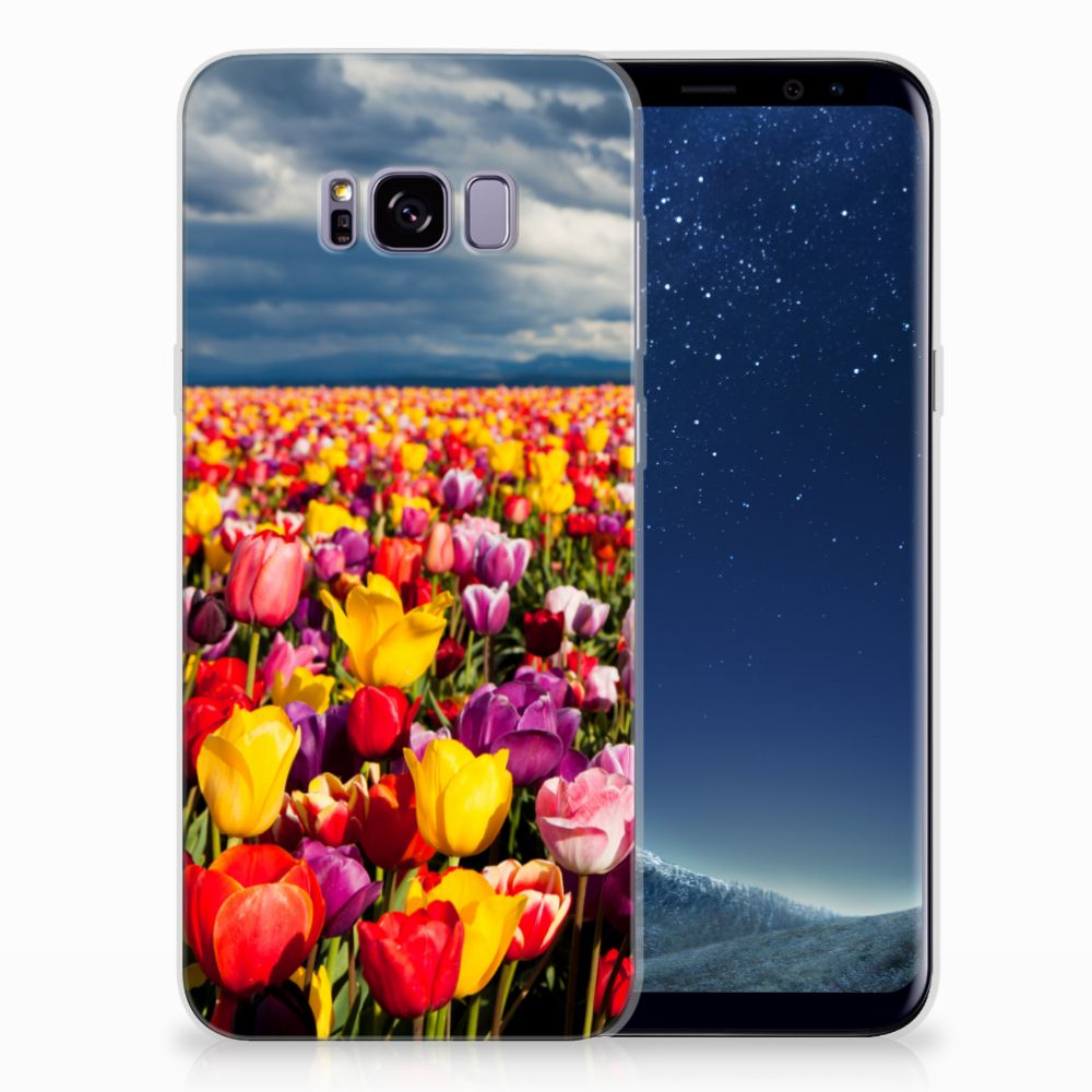 Samsung Galaxy S8 Plus Uniek TPU Hoesje Tulpen