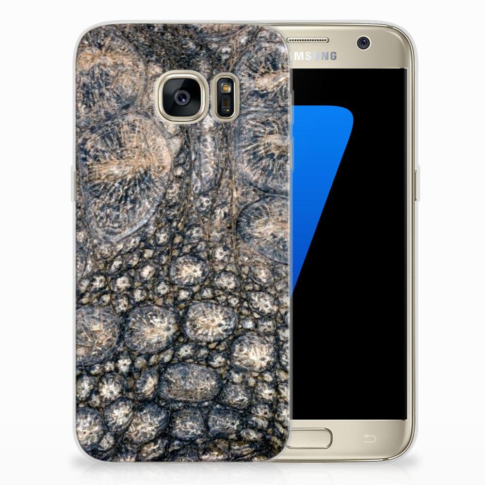 Samsung Galaxy S7 Uniek TPU Hoesje Krokodillenprint