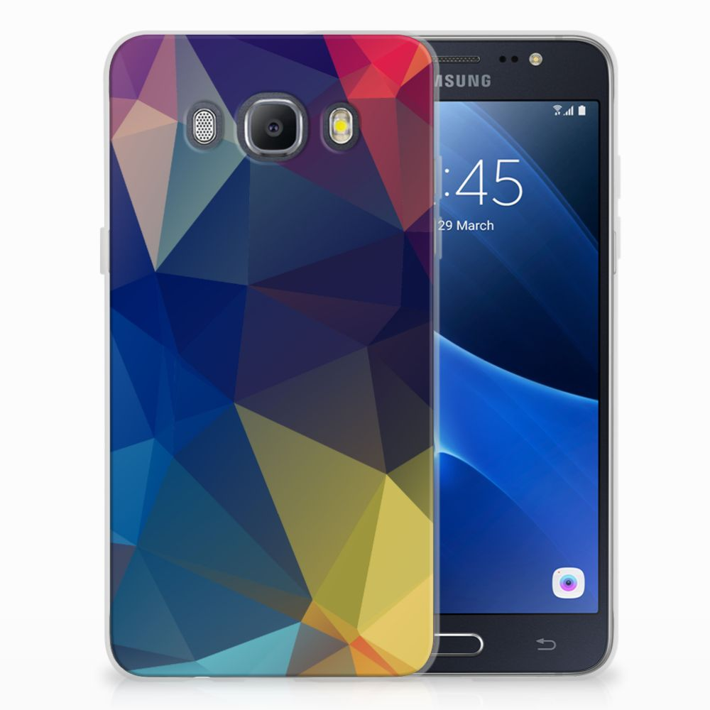 Samsung Galaxy J5 2016 Uniek TPU Hoesje Polygon Dark