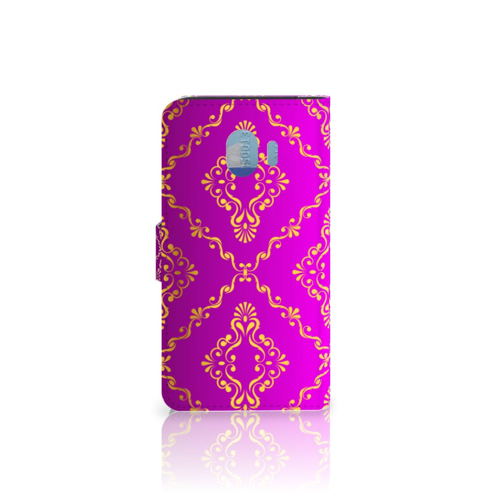 Wallet Case Samsung Galaxy J4 2018 Barok Roze