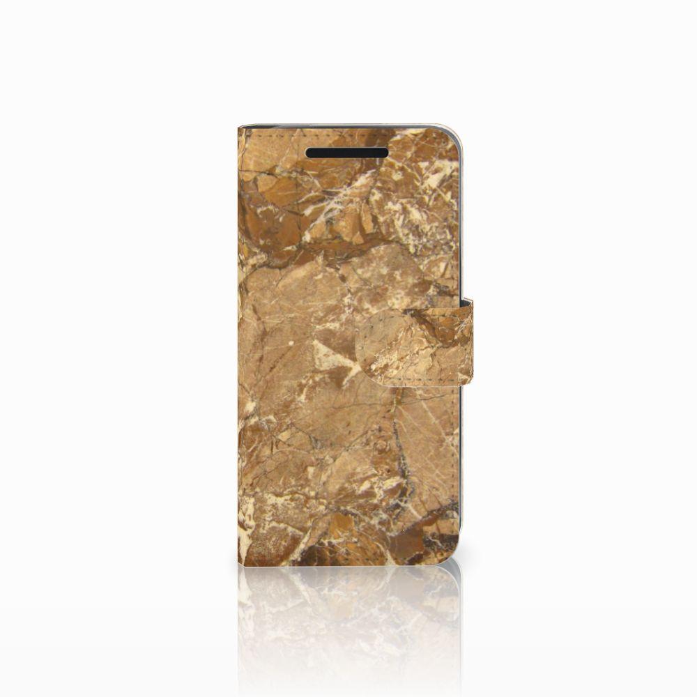 HTC One M9 Bookcase Marmer Creme