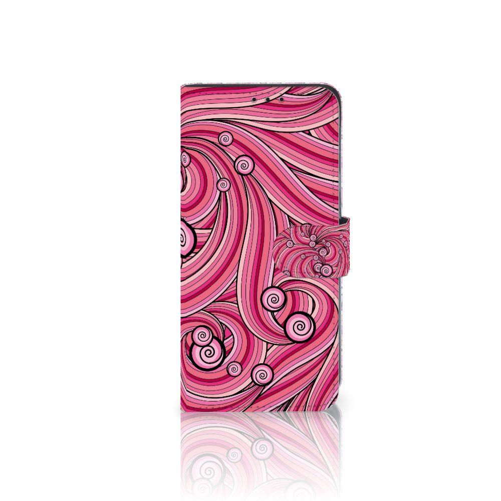 Huawei Mate 20 Lite Uniek Boekhoesje Swirl Pink