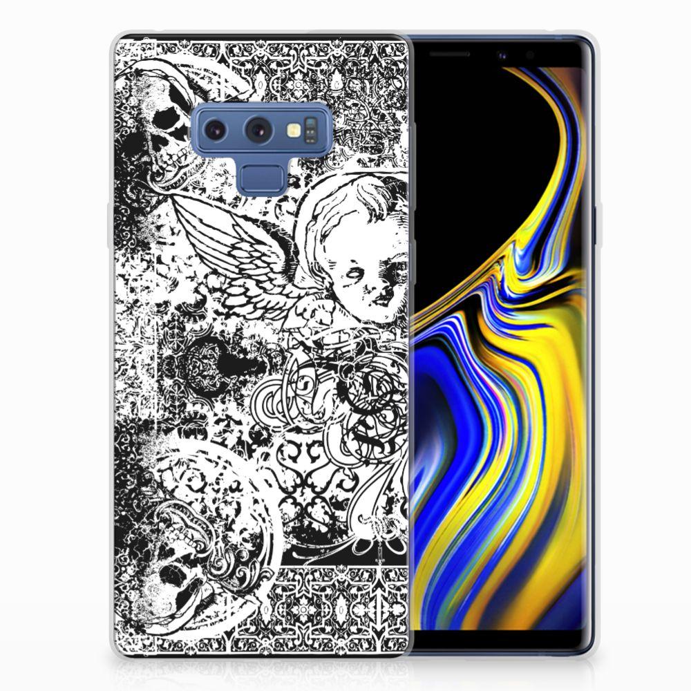 Silicone Back Case Samsung Galaxy Note 9 Skulls Angel