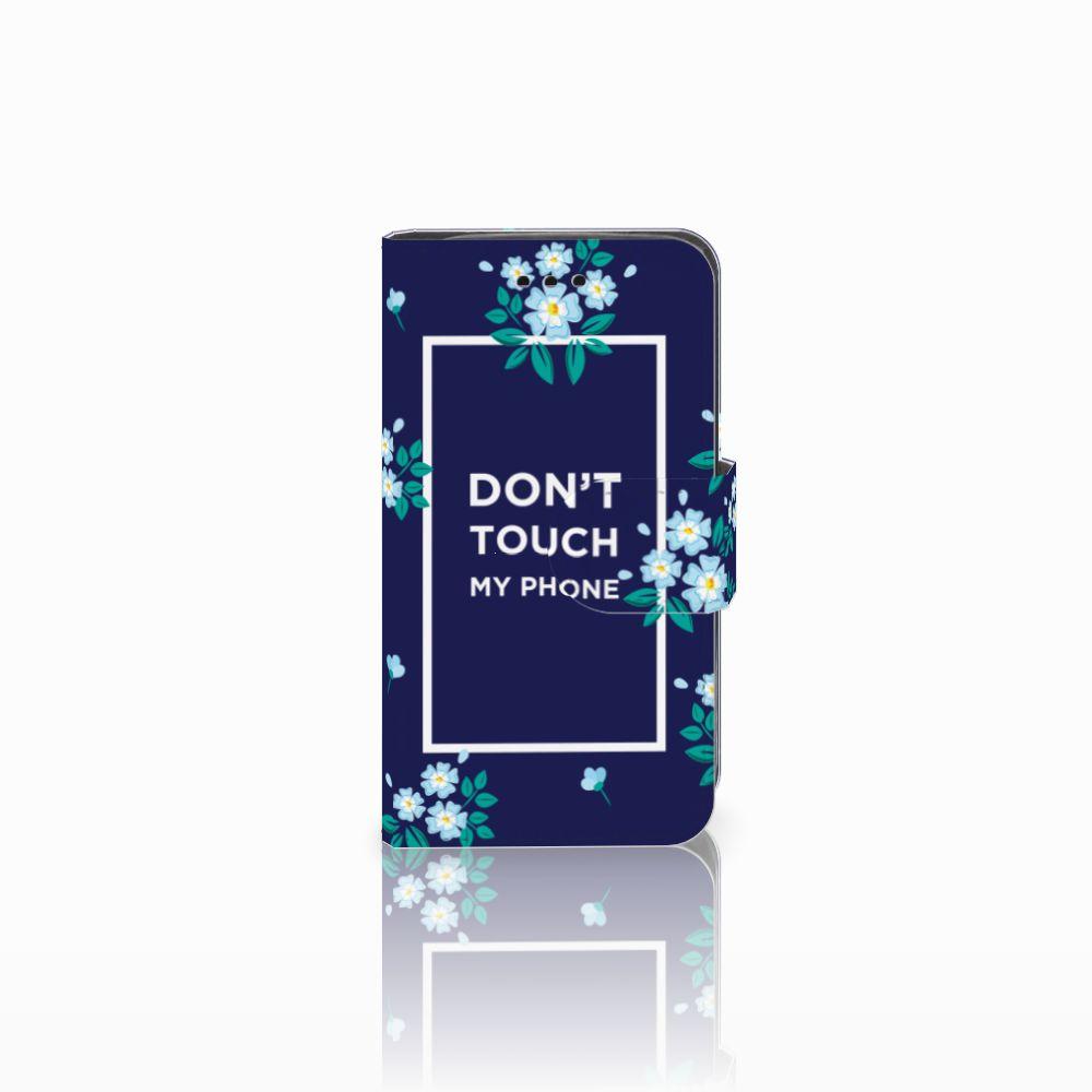 Samsung Galaxy Trend 2 Boekhoesje Flowers Blue DTMP