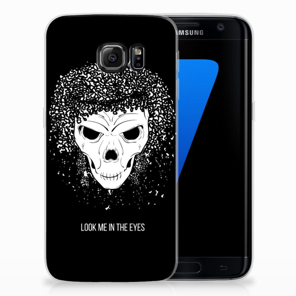 Silicone Back Case Samsung Galaxy S7 Edge Skull Hair