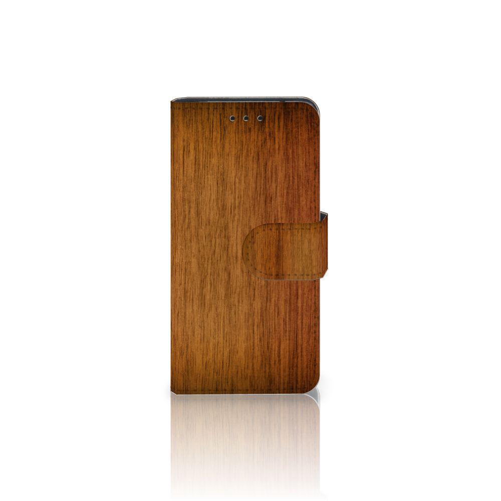 Samsung Galaxy S5 Mini Uniek Boekhoesje Donker Hout