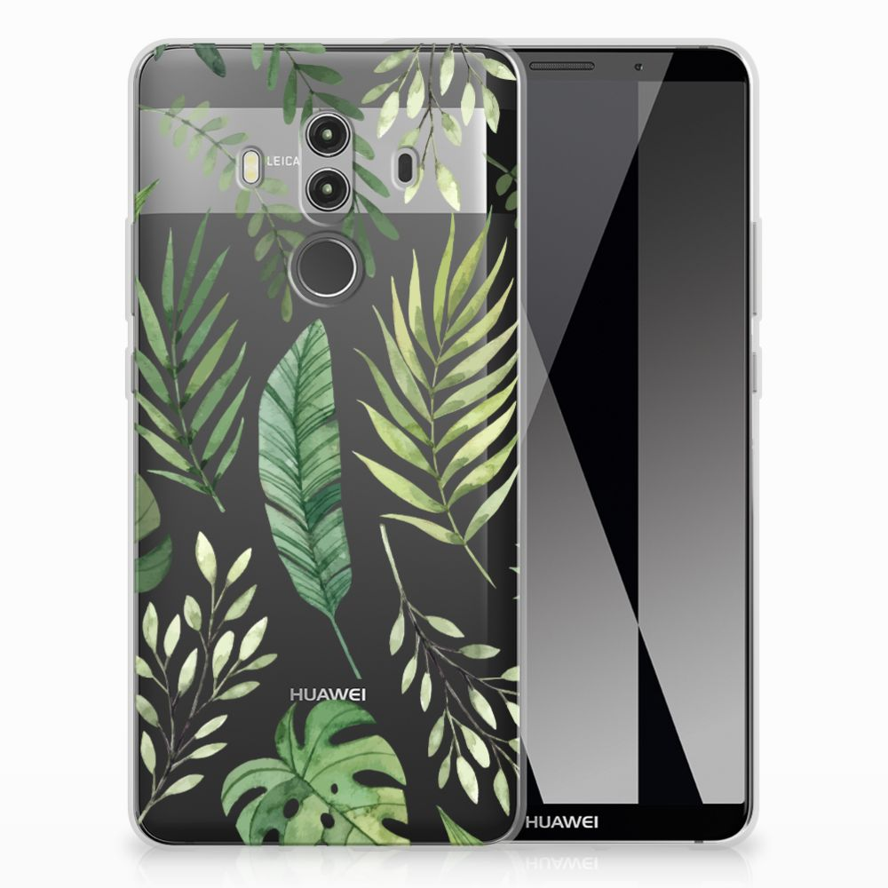 Huawei Mate 10 Pro Uniek TPU Hoesje Leaves