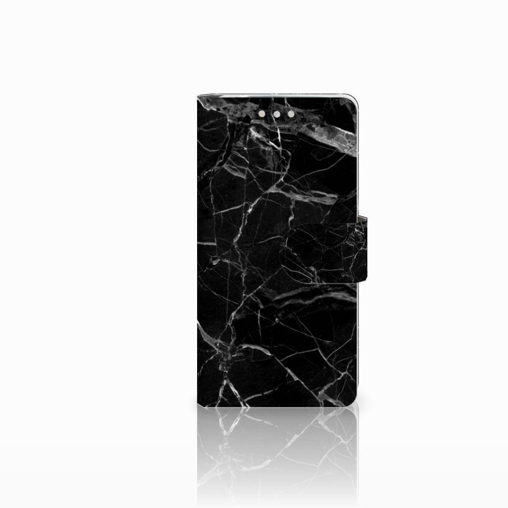 Sony Xperia XZ2 Compact Uniek Boekhoesje Marmer Zwart