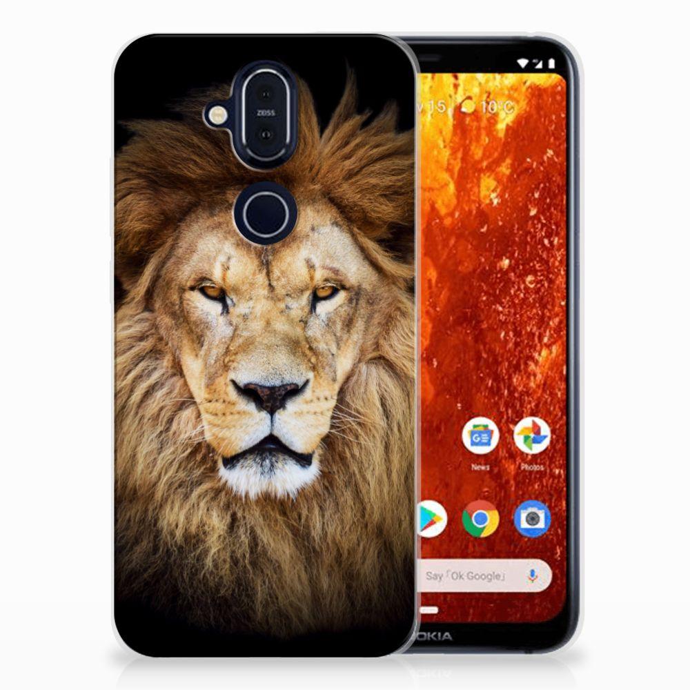 Nokia 8.1 TPU Hoesje Leeuw