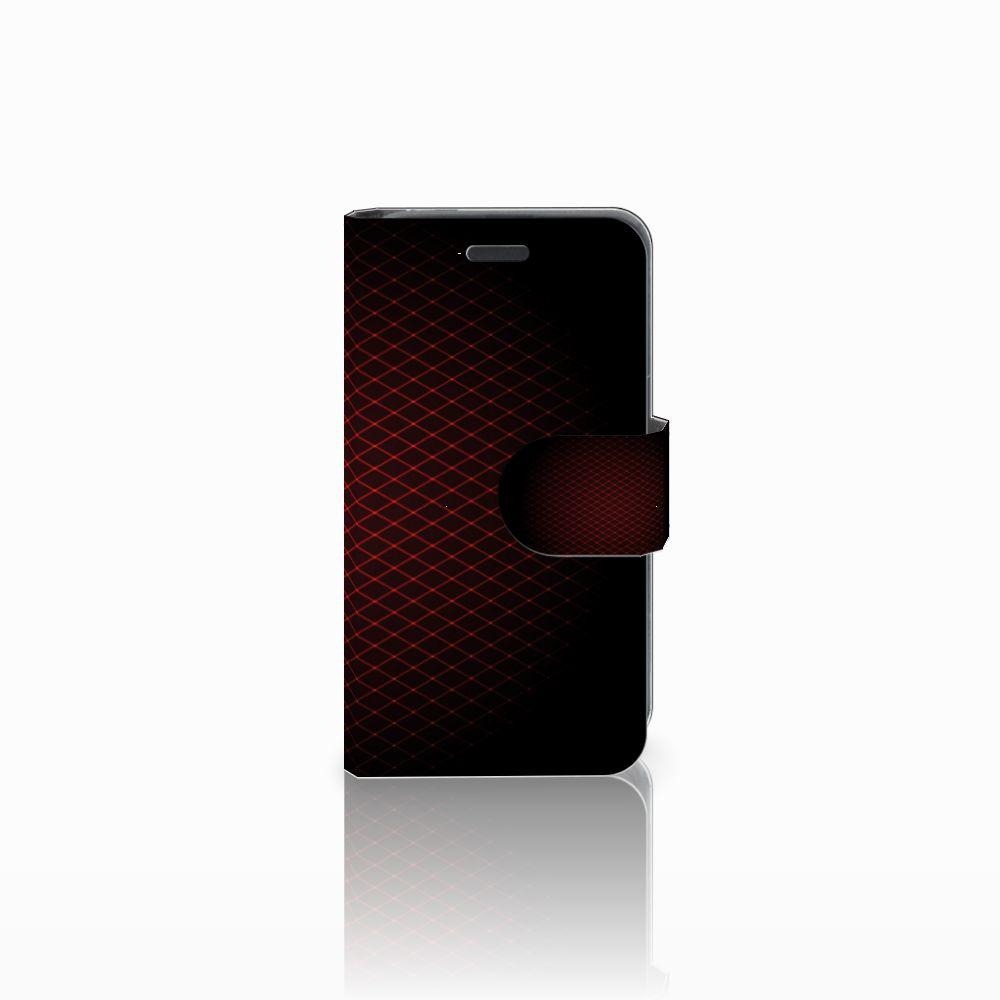 Nokia Lumia 520 Uniek Boekhoesje Geruit Rood
