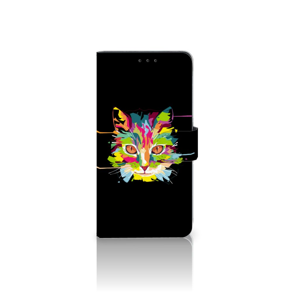 Samsung Galaxy A8 Plus (2018) Uniek Boekhoesje Cat Color
