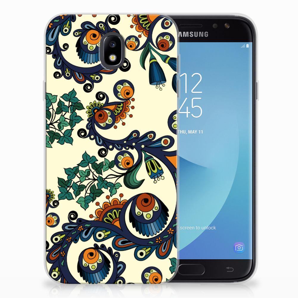 Samsung Galaxy J7 2017 | J7 Pro TPU Hoesje Design Barok Flower