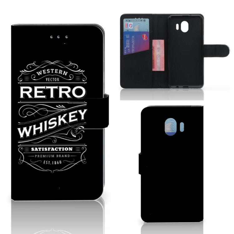 Samsung Galaxy J4 2018 Book Cover Whiskey