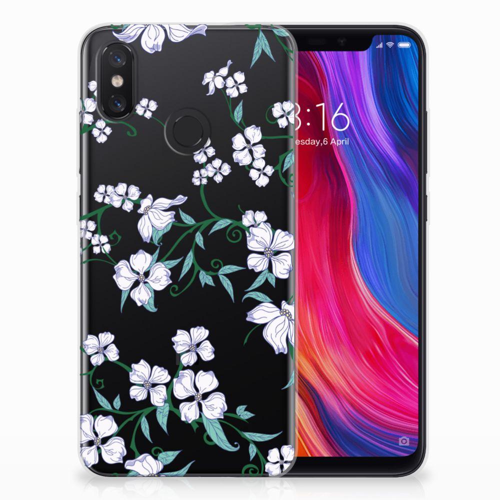 Xiaomi Mi 8 Uniek TPU Hoesje Blossom White