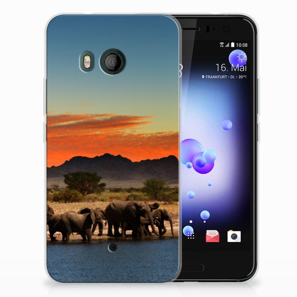 HTC U11 TPU Hoesje Design Olifanten