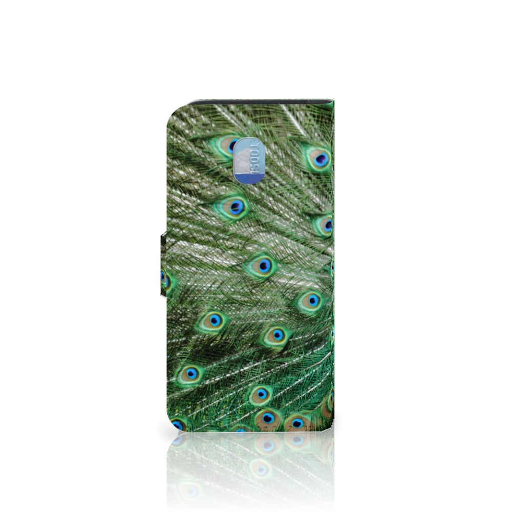 Samsung Galaxy J3 (2018) Telefoonhoesje met Pasjes Pauw