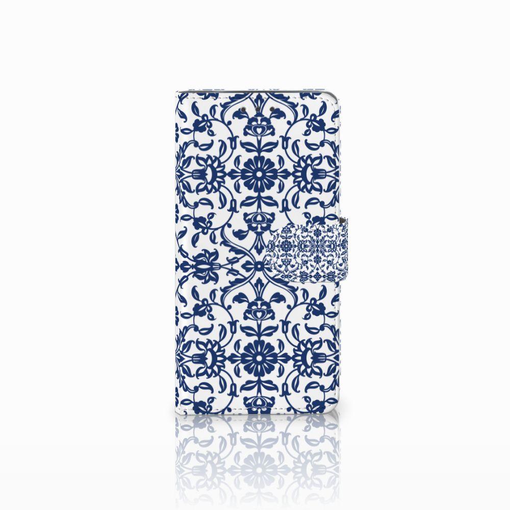 Motorola Moto X4 Boekhoesje Flower Blue