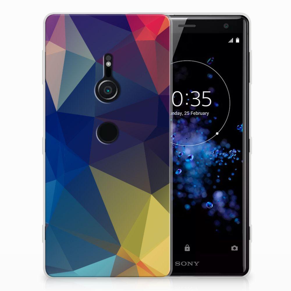 Sony Xperia XZ2 TPU Hoesje Polygon Dark