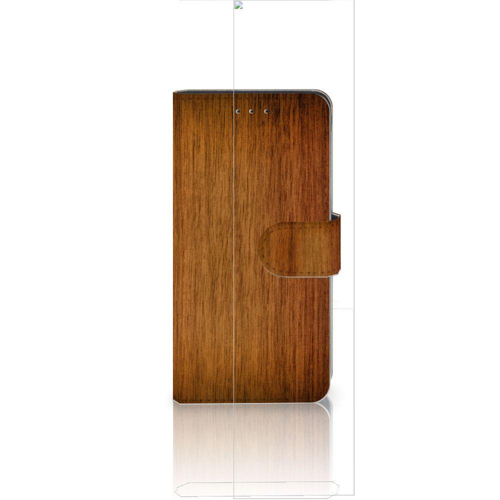 Huawei P20 Uniek Boekhoesje Donker Hout