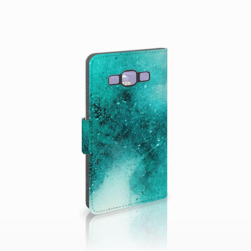 Samsung Galaxy A3 2015 Uniek Boekhoesje Painting Blue