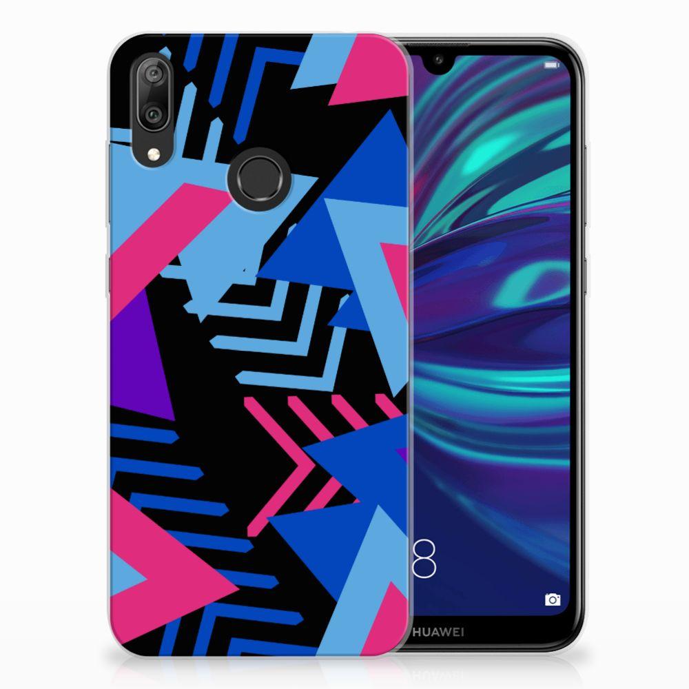 Huawei Y7 2019 TPU Hoesje Funky Triangle
