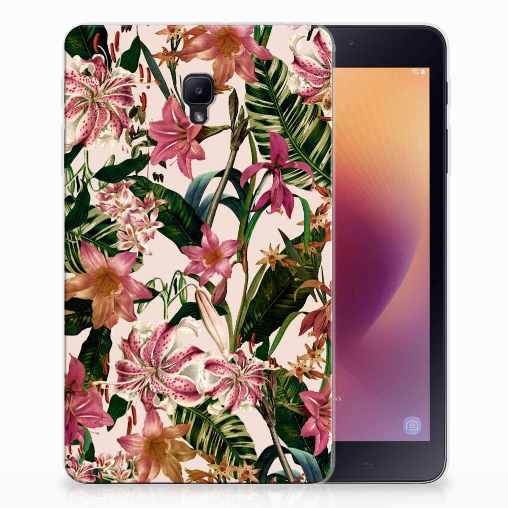 Samsung Galaxy Tab A 8.0 (2017) Siliconen Hoesje Flowers