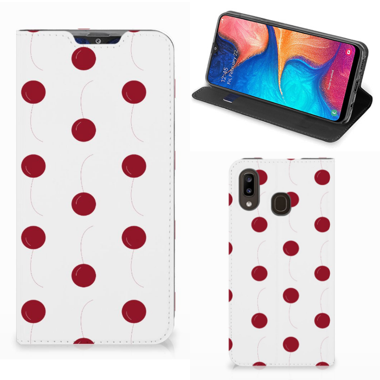 Samsung Galaxy A30 Flip Style Cover Cherries