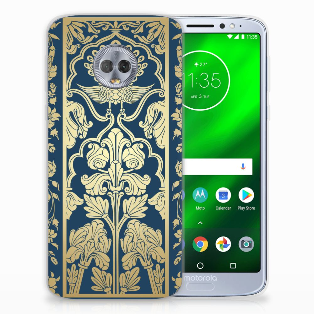 Motorola Moto G6 Plus TPU Case Golden Flowers