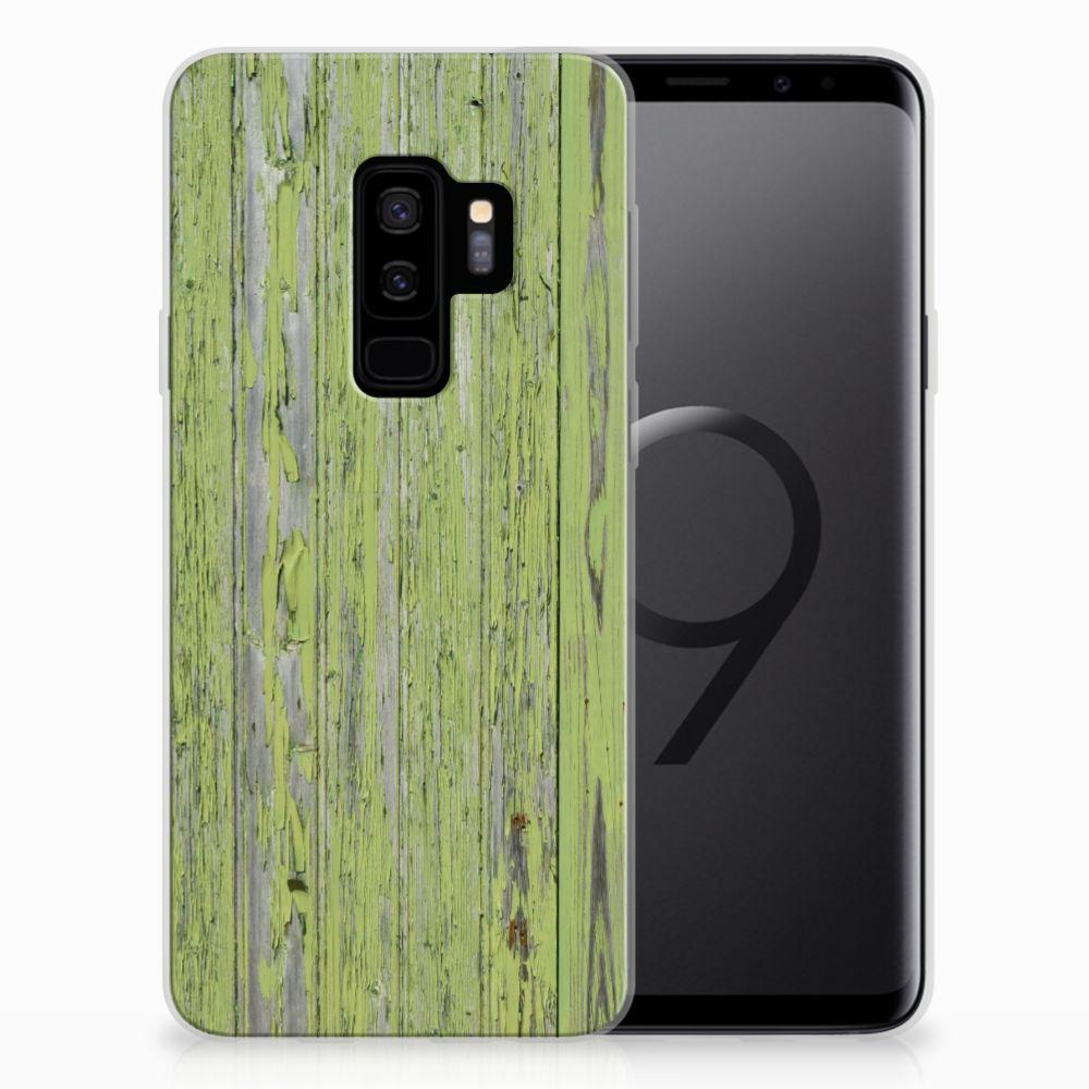 Samsung Galaxy S9 Plus Bumper Hoesje Green Wood