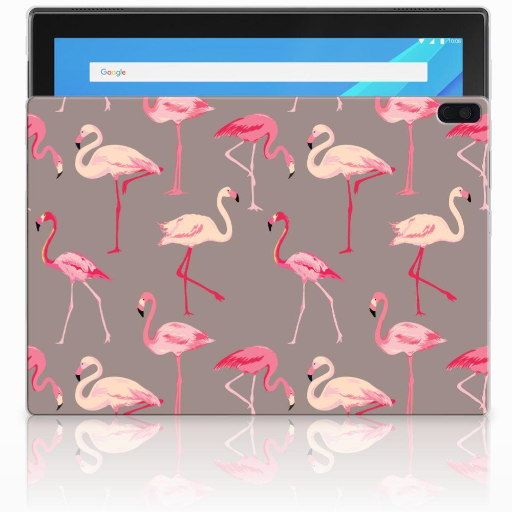Lenovo Tab 4 10.1 Uniek Tablethoesje Flamingo