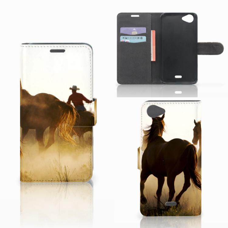 Wiko Rainbow Jam Telefoonhoesje met Pasjes Design Cowboy